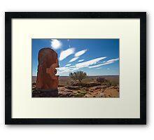 Desert Sculptures Framed Print