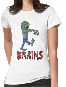 BRAINS!!! Womens Fitted T-Shirt