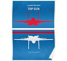 No128 My TOP GUN minimal movie poster Poster