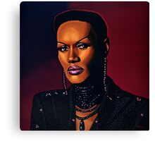 Grace Jones painting Canvas Print