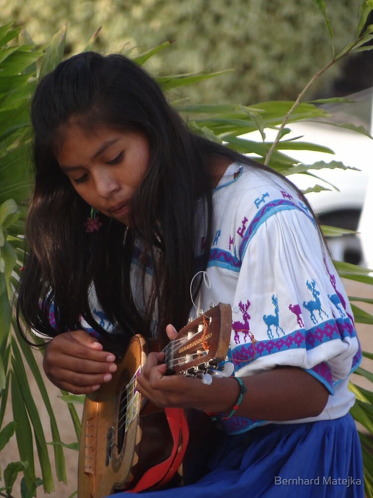 Young Indian Musician - Joven Música Indigena by Bernhard Matejka