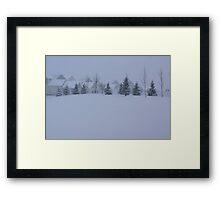 Snowing Back Yard  Framed Print