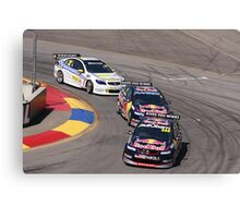2013 Clipsal 500 Day 3 V8 Supercars - Lowndes, Whincup & Webb Canvas Print
