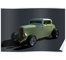1932 Ford Hot Rod 3 window Coupe Poster