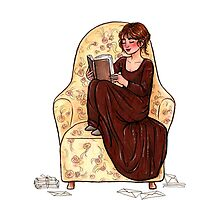 Reading fictional characters: Elizabeth by susannesart