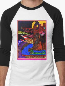 Night Came Creeping Over the Castle Men's Baseball ¾ T-Shirt