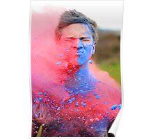 Powder Paint Festival Print Poster