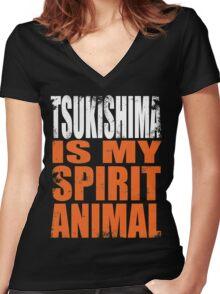 Tsukishima is my Spirit Animal Women's Fitted V-Neck T-Shirt