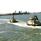 Three Little Tug Boats by judygal