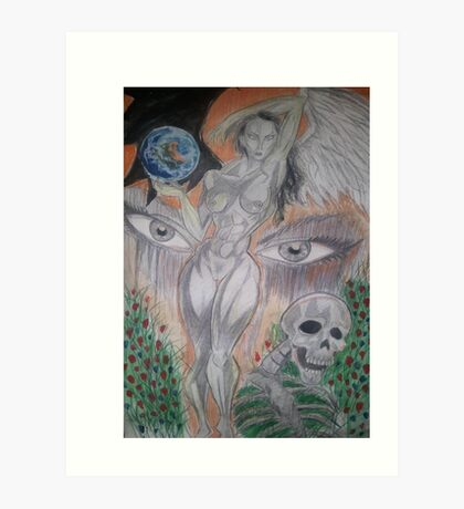 the world through naked eyes Art Print