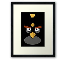 Black and Angry Framed Print