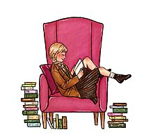 Reading fictional characters: Liesel Photographic Print