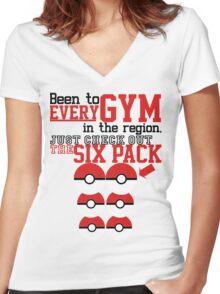 Pokemon gym monkey Women's Fitted V-Neck T-Shirt