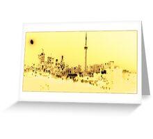 Yellow Toronto Greeting Card
