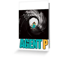 phineas and ferb perry the platypus agent p Greeting Card