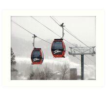Skiing at its best ! Art Print