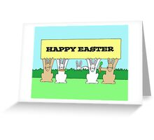 Easter bunnies. Greeting Card