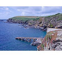 The old lifeboat slipway Photographic Print