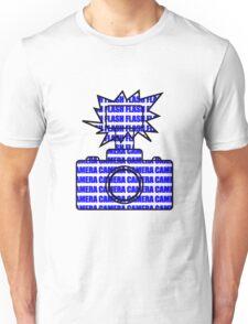 Camera SLR Flash_Blue T-Shirt