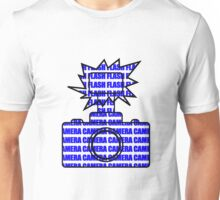 Camera SLR Flash_Blue Unisex T-Shirt
