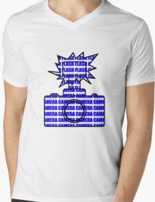 Camera SLR Flash_Blue Mens V-Neck T-Shirt
