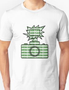 Camera SLR Flash_Green T-Shirt