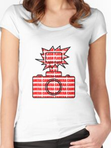 Camera SLR Flash_Red Women's Fitted Scoop T-Shirt
