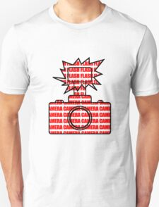 Camera SLR Flash_Red Unisex T-Shirt