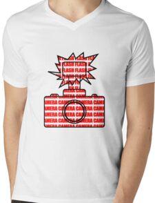 Camera SLR Flash_Red Mens V-Neck T-Shirt