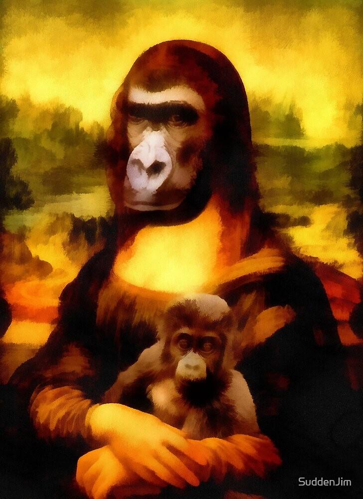 Mona Gorilla With Child by SuddenJim
