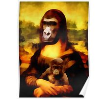 Mona Gorilla With Child Poster