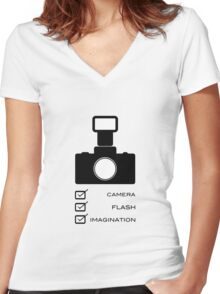 Photographers imagination Women's Fitted V-Neck T-Shirt