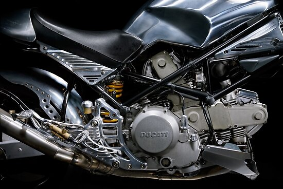 Ducati Monster Custom Cafe Racer Engine by Frank Kletschkus