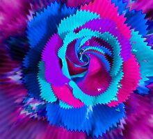 Purple Blue Rose by JuliaFineArt