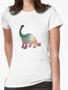 Space Diplodocus T-shirt Womens Fitted T-Shirt