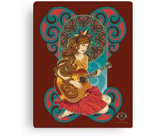 Acoustic Girl Canvas Print