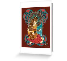 Acoustic Girl Greeting Card