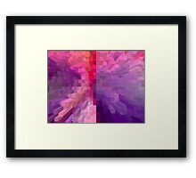 Columns of colour Framed Print