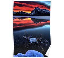 Vermillion Lakes Mount Rundle Poster