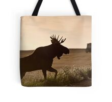 Prairie Moose Tote Bag