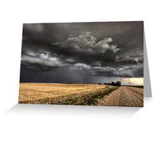 Storm Clouds Saskatchewan ominous wheat fields Saskatchewan Greeting Card