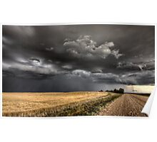 Storm Clouds Saskatchewan ominous wheat fields Saskatchewan Poster