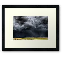 Storm Clouds Saskatchewan wind farm Swift Current Canada Framed Print