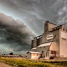 Storm Clouds Saskatchewan old grain elevator Canada by pictureguy