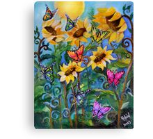 Flight of the Whimsical Butterfly Canvas Print