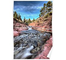 Red Rock Canyon Waterton Park Canada Alberta Poster