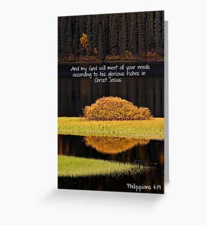 Water reflections in autumn Greeting Card