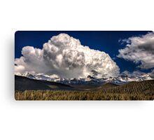 Rocky Mountains in Winter near Banff Alberta Canada Canvas Print