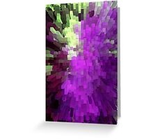 Purple columns of wow Greeting Card