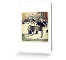 Classical Tunes In The Park Greeting Card